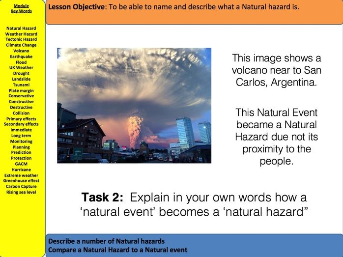 AQA Natural Hazards - What is  a Natural Hazard?