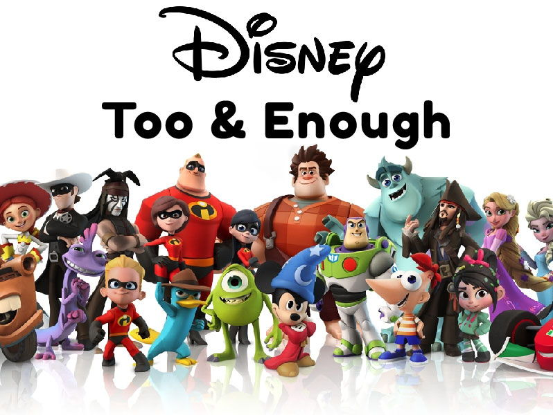 Disney Too & Enough Speaking Activity