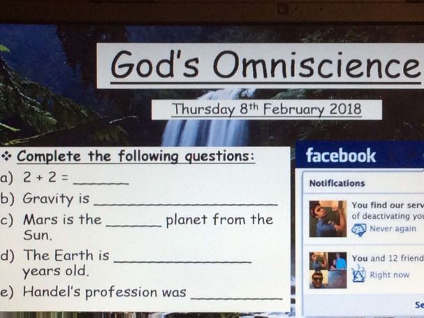 New OCR A2 The Nature and Attributes of God - God's Omniscience PowerPoint