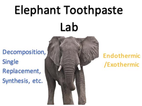 Elephant Toothpaste Lab