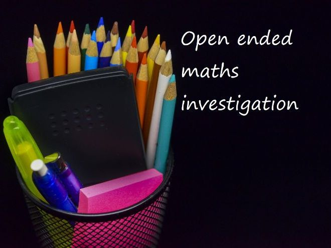 Open ended maths investigation - year 2 addition