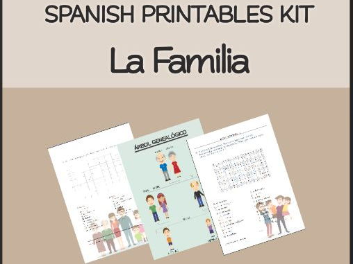 "SPANISH "" La Familia"" Printables Kit"