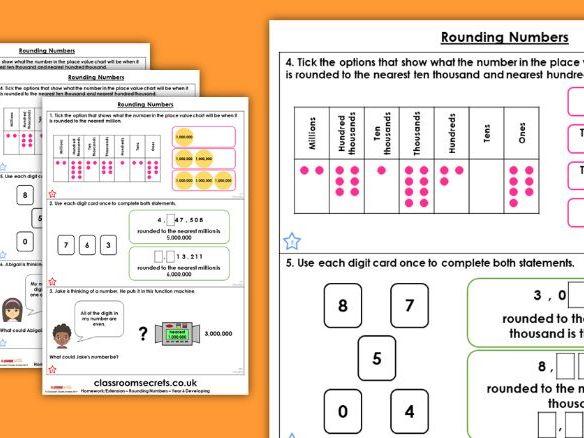 Year 6 Rounding Numbers Autumn Block 1 Maths Homework Extension