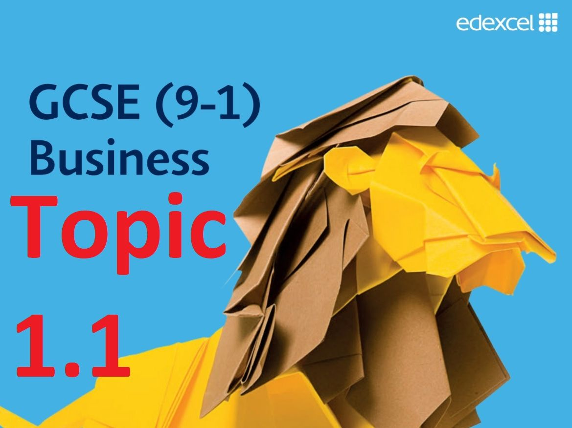 Topic 1.1 - GCSE Edexcel Business - Theme 1