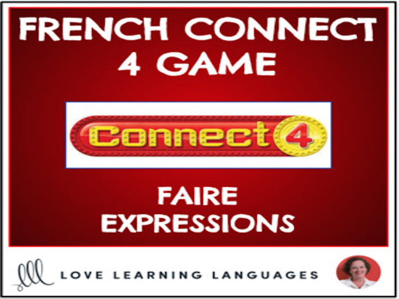 French Connect 4 Game - Faire Expressions