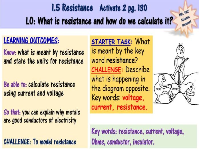 Resistance in Circuits KS3 Science