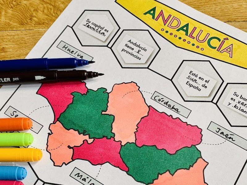 Andalucía - Spanish infographic