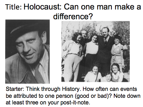 Year 9 Nazi Germany- Lesson 5 Holocaust: did Oskar Schindler make a difference?