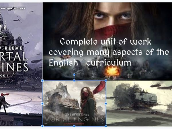 Mortal Engines complete unit for teaching late key stage 2 or key stage 3