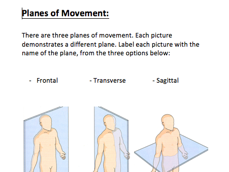 Planes of Movement and Axis of Rotation