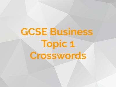 GCSE Business - Topic 1 Crosswords