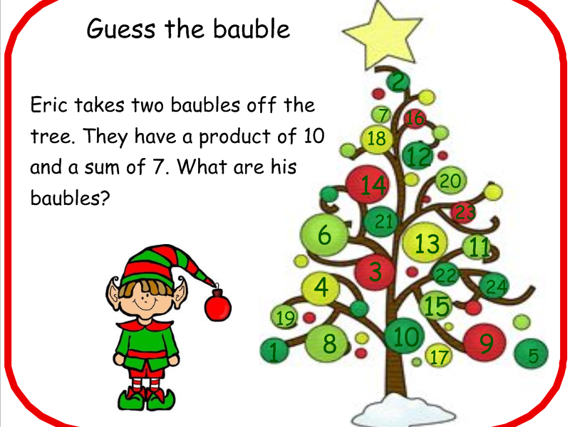 Christmas Tree Number Problem Solving And Reasoning Task