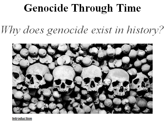 Genocide Through Time Research Project