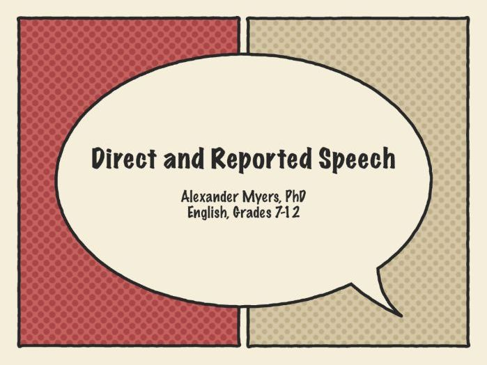 Direct and Reported Speech (using 'The Price of Love' by White Lies)