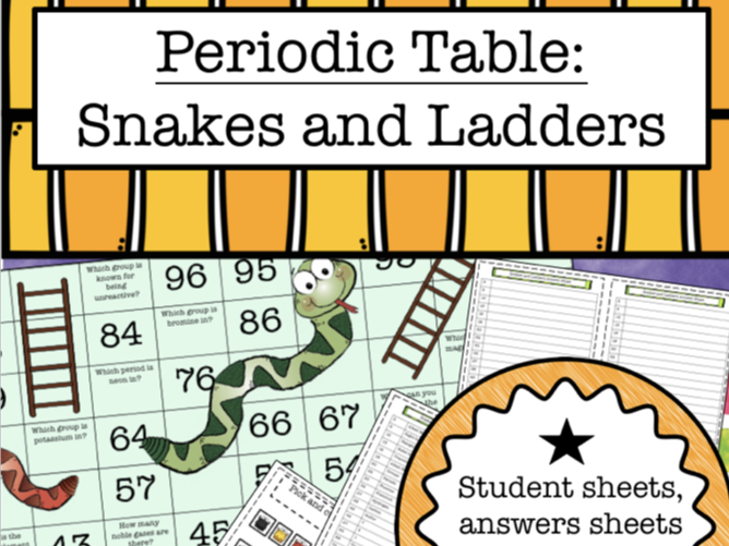 Periodic Table: Snakes and Ladders