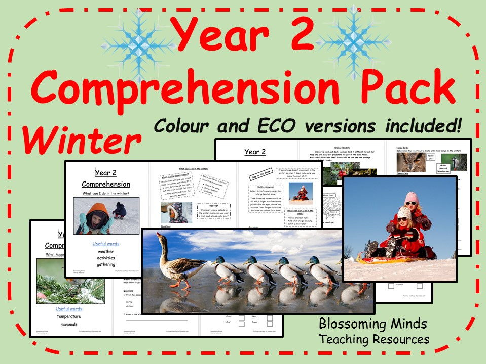 Year 2 SATs Comprehension pack - Winter