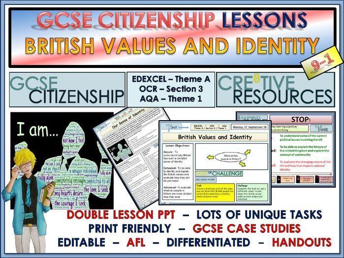 Lessons - British Values and Identity - GCSE Citizenship 9-1