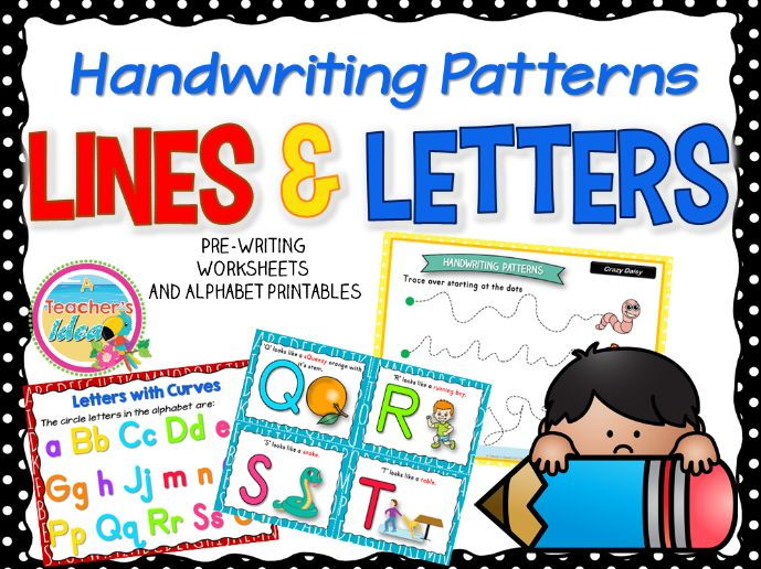 Handwriting Patterns - Lines and Letters