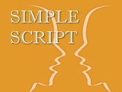 Simple script for 2 characters, drama and English presentations, festivals