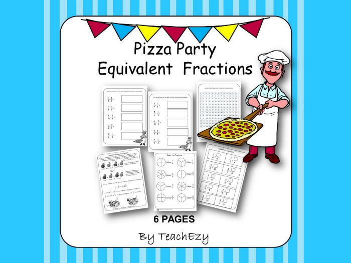 Equivalent Fractions Pizza Party