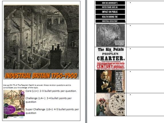 OCR SHP-B GCSE History, People's Health Revision Work Booklet