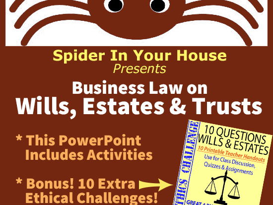 ETHICS CIVICS Business Law 2-Pack: Wills, Estates & Trusts > PowerPoint + Q&A Handouts!