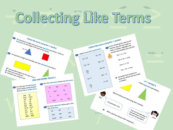 Collecting Like Terms