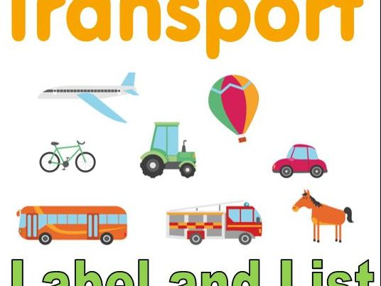 Transport List Writing and Labelling Worksheets