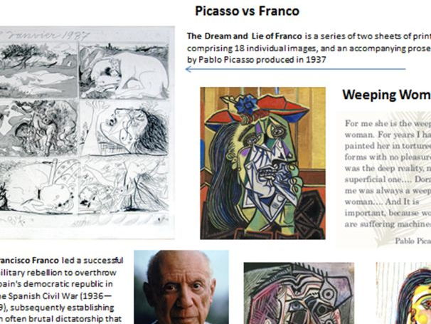 Pablo Picasso vs Franco - Spanish Civil War and Art/History