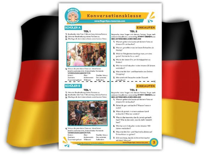 Einkaufen - German Speaking Activity