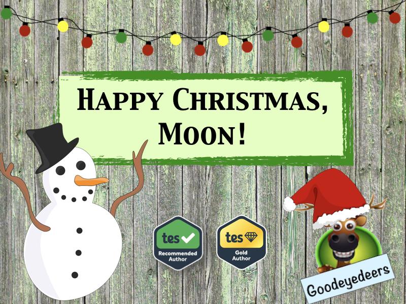 Christmas Literacy - Happy Christmas, Moon! - Writing a List Poem