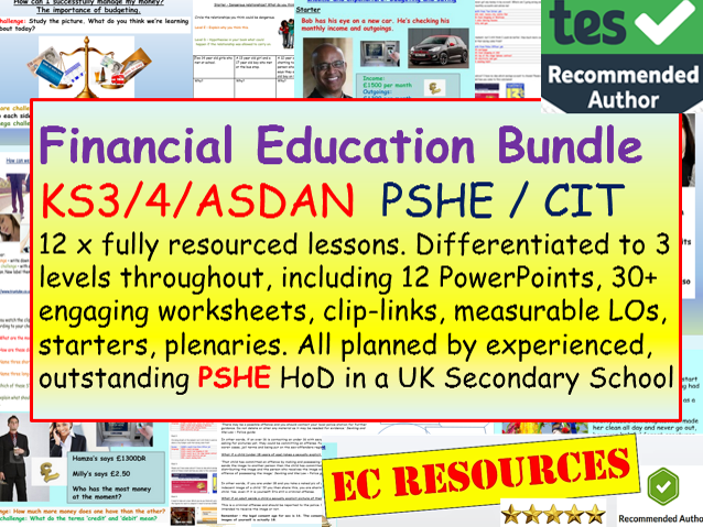 Finance + Money PSHE
