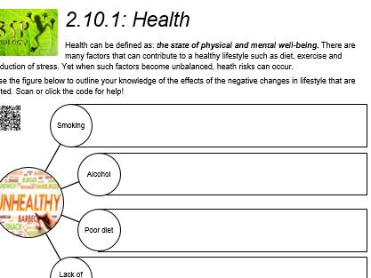 AQA GCSE Biology: Trilogy. Lesson 22 Health