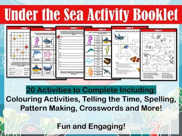 Under the Sea Activity Booklet
