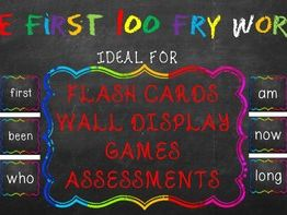 The first 100 'Fry Words' - Chalk Board Effect