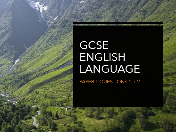 AQA GCSE English Language Paper 1 Questions 1 + 2 - Alice in the Pyrenees