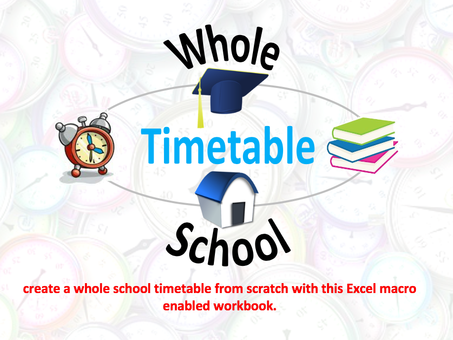 Whole School Timetable Free Version