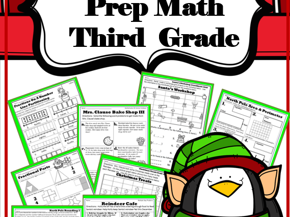 December or Christmas Third Grade No Prep Math