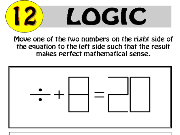 Logic Puzzle 12 of 20 (with solution)