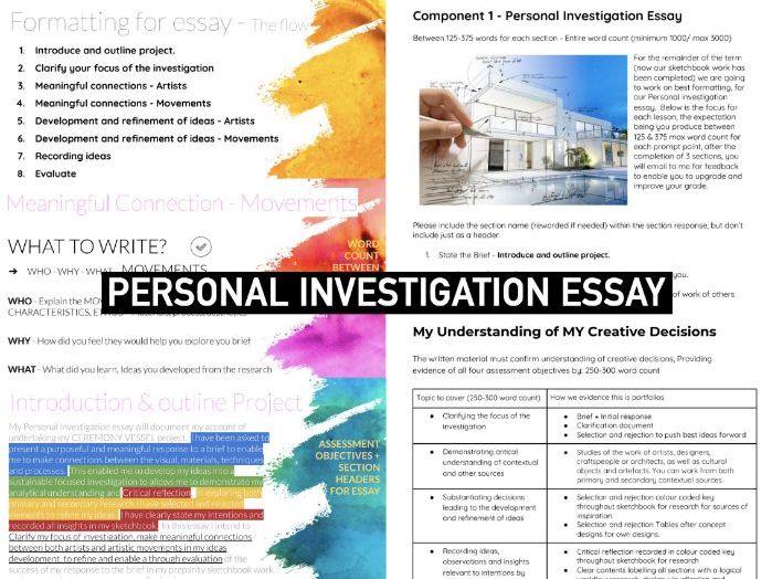 ART & DESIGN AQA | Personal Investigation Essay