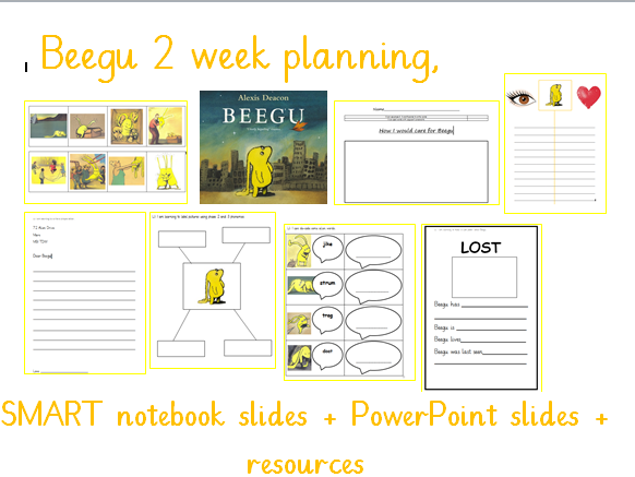 Beegu Year 1  planning, slides and resources
