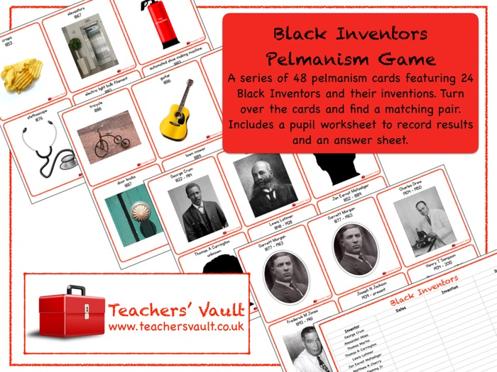 Black Inventors Pelmanism Game (Black History Month)