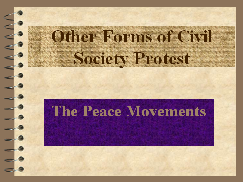 The Peace Movements in the 1960s