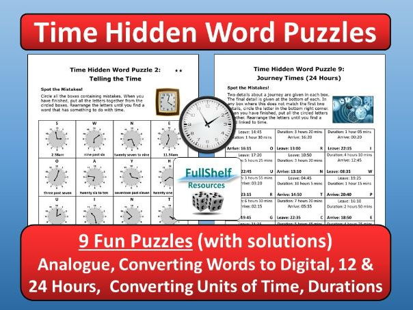 Time 12 / 24 Hours Worksheets