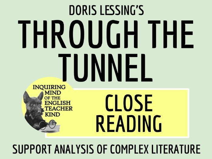"""""""Through the Tunnel"""" by Doris Lessing Close Reading Analysis Worksheet"""