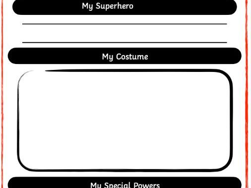 EYFS: Superhero Application Form