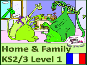 SIX LESSON PRIMARY KS2/3 FRENCH UNIT: Family, ages to 20; descriptions, names, songs, raps, games