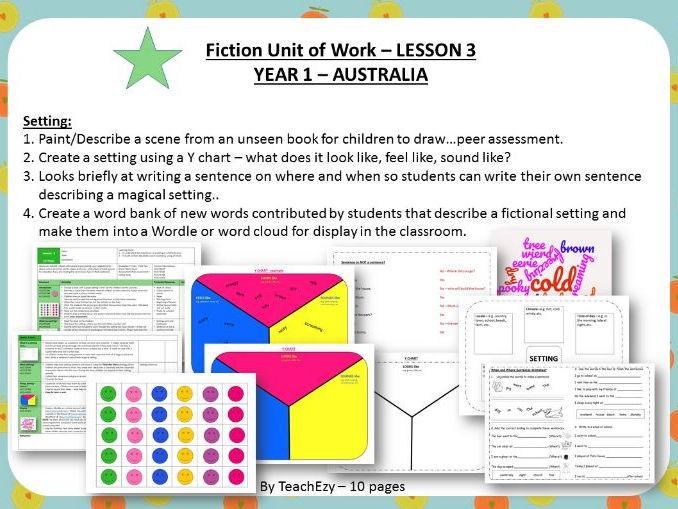 LESSON 3  Setting - Fiction Year 1 Australian Curriculum