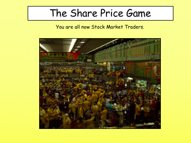 GCSE Business Stock Market Trading Game