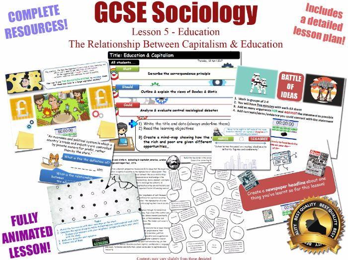 Education & Capitalism - Sociology of Education L5/20 [ AQA GCSE Sociology - 8192 ] Bowles & Gintis